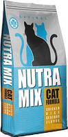 Сухой корм Nutra Mix (Нутра Микс) Optimal для кошек с курицей, рисом и морепродуктами 9,07 кг