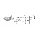 Настенная керамическая раковина компакт Roca MERIDIAN A32724T000, фото 2