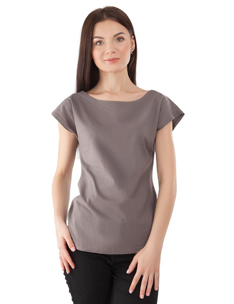 Женская футболка хлопковая (размеры XS-XL)