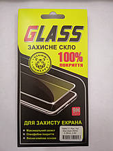 Защитное стекло Nokia 3.1 Plus Full Glue black ЛЮКС