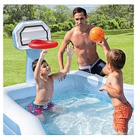 Детский надувной бассейн Intex 57183 с баскетбольным кольцом, фото 1