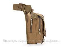 Сумка под пистолет тактическая универсальная (набедренная) сумка на бедро (на пояс) Coyote (9001-coyote), фото 2