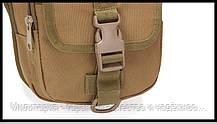 Сумка под пистолет тактическая универсальная (набедренная) сумка на бедро (на пояс) Coyote (9001-coyote), фото 3
