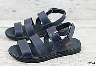 Мужские кожаные сандалии Tommy Hilfiger (Реплика) (Код: С7/4  ) ►Размеры [40,41,42,43,44,45], фото 1