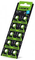 Батарейка часовая Videx AG 1 (LR621) blister card 10 pc 100 шт/уп