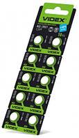 Батарейка годинникова Videx AG 6 (LR921) blister card 10 pc 100 шт/уп