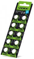 Батарейка часовая Videx AG 10(LR1130) blister card 10 pc 100 шт/уп
