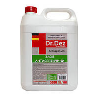 Антисептик Dr. Dez 5л в канистре дезинфицирующе средство для рук и поверхностей готовый раствор с глицерином