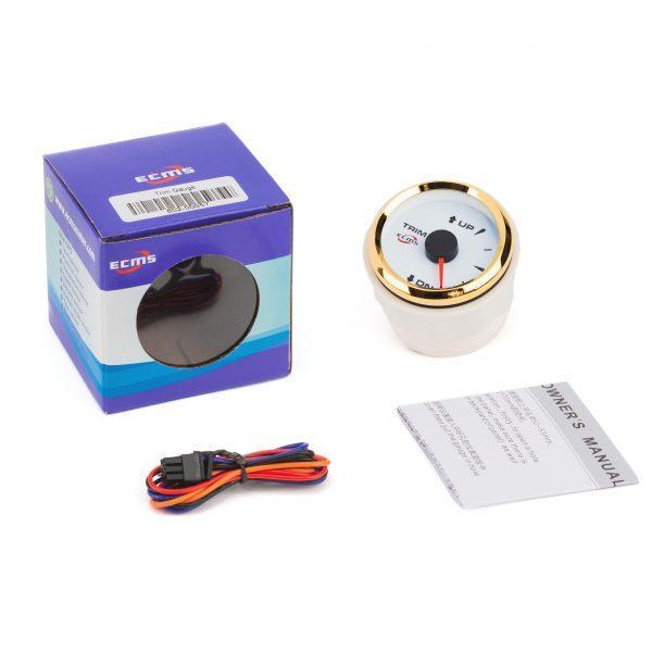 Датчик трима ECMS HMM2-WG-R, діаметр 52мм, рамка золото, білий дисплей