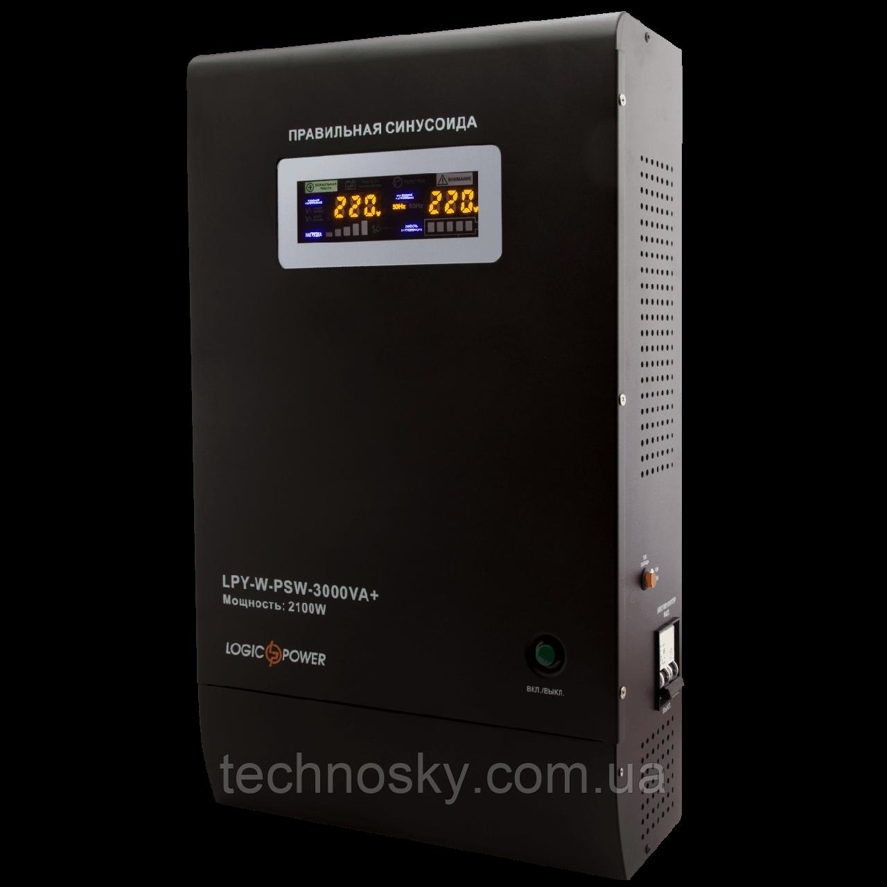 Источник бесперебойного питания LogicPower LPY-W-PSW-3000VA + (2100Вт, 48В)