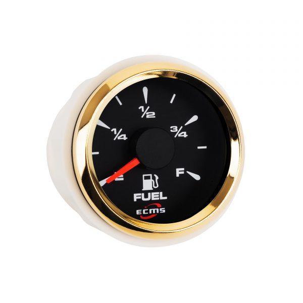 Датчик уровня топлива ECMS HMF2-BG-R, диаметр 52мм, рамка золото, дисплей черный