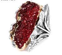 Друза в серебре. Богатейшее кольцо