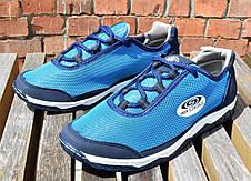 Кросівки чоловічі на літо, синя сітка 40,42,43 розмір, фото 2