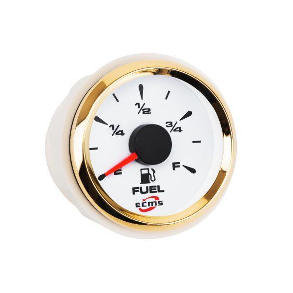 Датчик уровня топлива ECMS HMF2-WG-R диаметр 52мм, рамка золото, дисплей белый