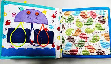 Развивающая Mягкая Книжка из Фетра, Мягкая текстильная книжка handmade (RB01045), фото 3