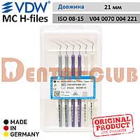 Ендодонтичний інструмент длярозширення кореневих каналів MC Hedstroem Files (MC H-files) VDW, довжина 21мм, Розмір / Конус 08-15 асорті (V040070004221)