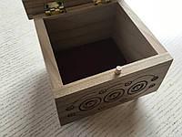 Шкатулка сувенірна дерев'яна ручної роботи 11,5*11,5*9 см, фото 1