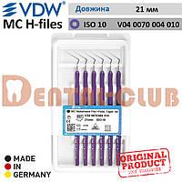 Ендодонтичний інструмент длярозширення кореневих каналів MC Hedstroem Files (MC H-files) VDW, довжина 21мм, Розмір / Конус 10 (V040070004010)