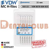Ендодонтичний інструмент длярозширення кореневих каналів MC Hedstroem Files (MC H-files) VDW, довжина 21мм, Розмір / Конус 15 (V040070004015)