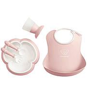 Набор детской посуды Baby Bjorn Baby Dinner Set Powder Pink 70064