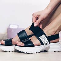 Босоножки на липучках спорт черные, фото 1