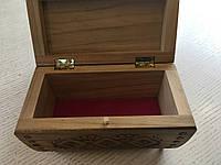 Шкатулка сувенірна дерев'яна ручної роботи 15*8*9см, фото 1