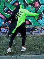 Мантия унисекс двухцветная черно-зелёный Пушка Огонь Scratch