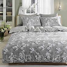 Комплект постельного белья TAC сатин delux евро размер Shadow Gri