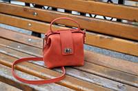 Кожаная сумка-саквояж София в размере S, фото 1