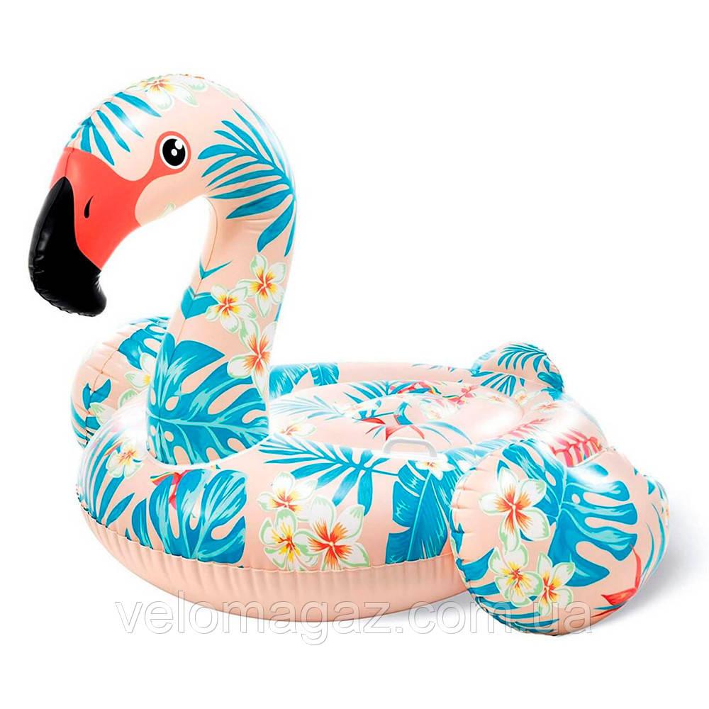 Надувной плот для катания Intex 57559 «Фламинго», 142*137*97 см, 2 ручки