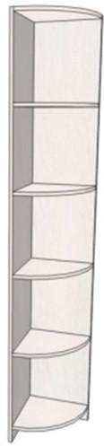 Модуль кутової Данко 35* 200 см ДСП Дуб сонома