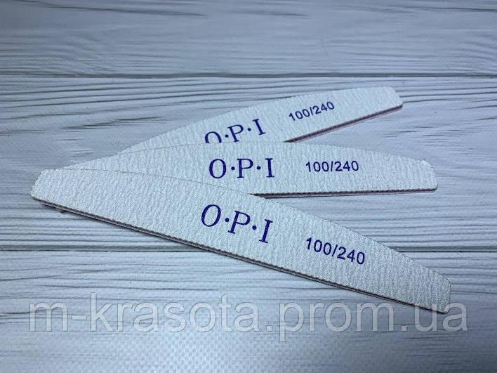 Пилка для ногтей OPPI, банан 100/240