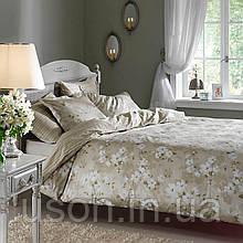 Комплект постельного белья TAC сатин delux евро размер Shadow Olive