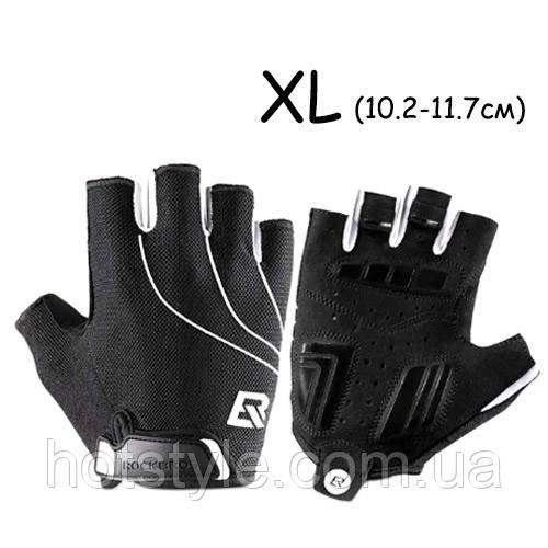 Перчатки велосипедные без пальцев гелиевые XL, 10-11.7см, RockBros S107, 105028