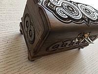 Дерев'яна різьбленна скринька для прикрас 15*7*висота 10 см, фото 1