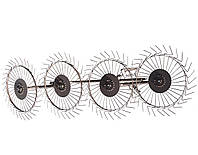 Грабли к мотоблоку / мототрактора ворошилки Солнышко 4-колесные ШИП, фото 1
