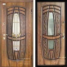 Дверь входная металлическая ABWEHR, 209 Massandra Ковка, Classic, SAP, Дуб золотой Патина, 950x2050, левая