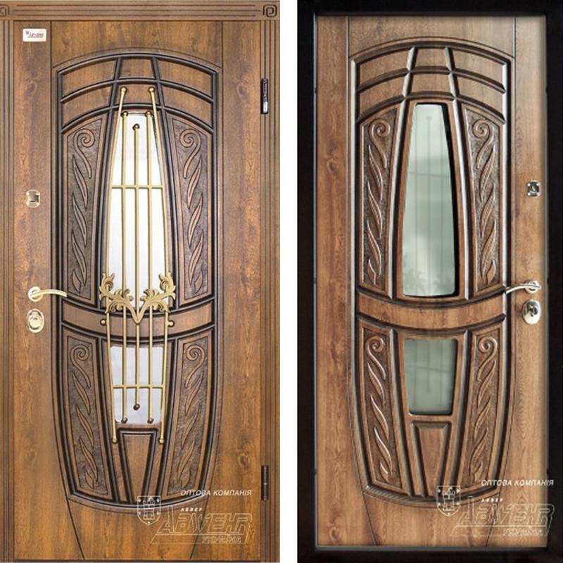 Дверь входная металлическая ABWEHR, 209 Massandra Ковка, Classic, SAP, Дуб золотой Патина, 950x2050, правая