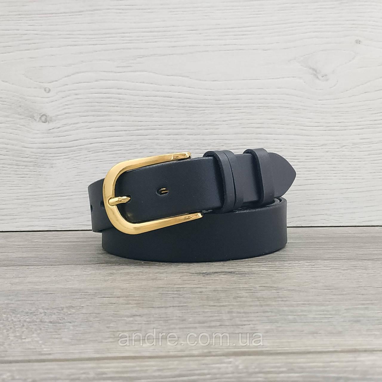 Женский кожаный ремень черный 30мм