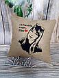Подушка с вышитой фотографией, фото 3