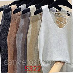 Майка женская модная размер универсальный 42-46 купить оптом со склада 7км Одесса