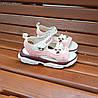 Розовые детские босоножки шлепки сандалии на липучке босоніжки шльопанці сандалі на липучці, фото 5