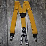 Мужские подтяжки желтого цвета, фото 2