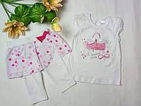 """Костюм летний для девочки  """"Малиновая сумочка"""" Garden baby 40120-16, фото 1"""