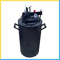 Автоклав Черный большой винт газ (0,5 л-35 банок, 1л.-20 шт), фото 1