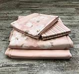 Комплект постельного белья TAC сатин delux евро размер Shadow Pink, фото 3