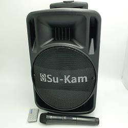 """Колонка беспроводная 10"""" Акустическая система с радио микрофоном USB FM Su-Kam BT100D 500 Вт"""