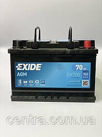 Автомобильный аккумуляторExide 70Ah Start-Stop AGM EK700