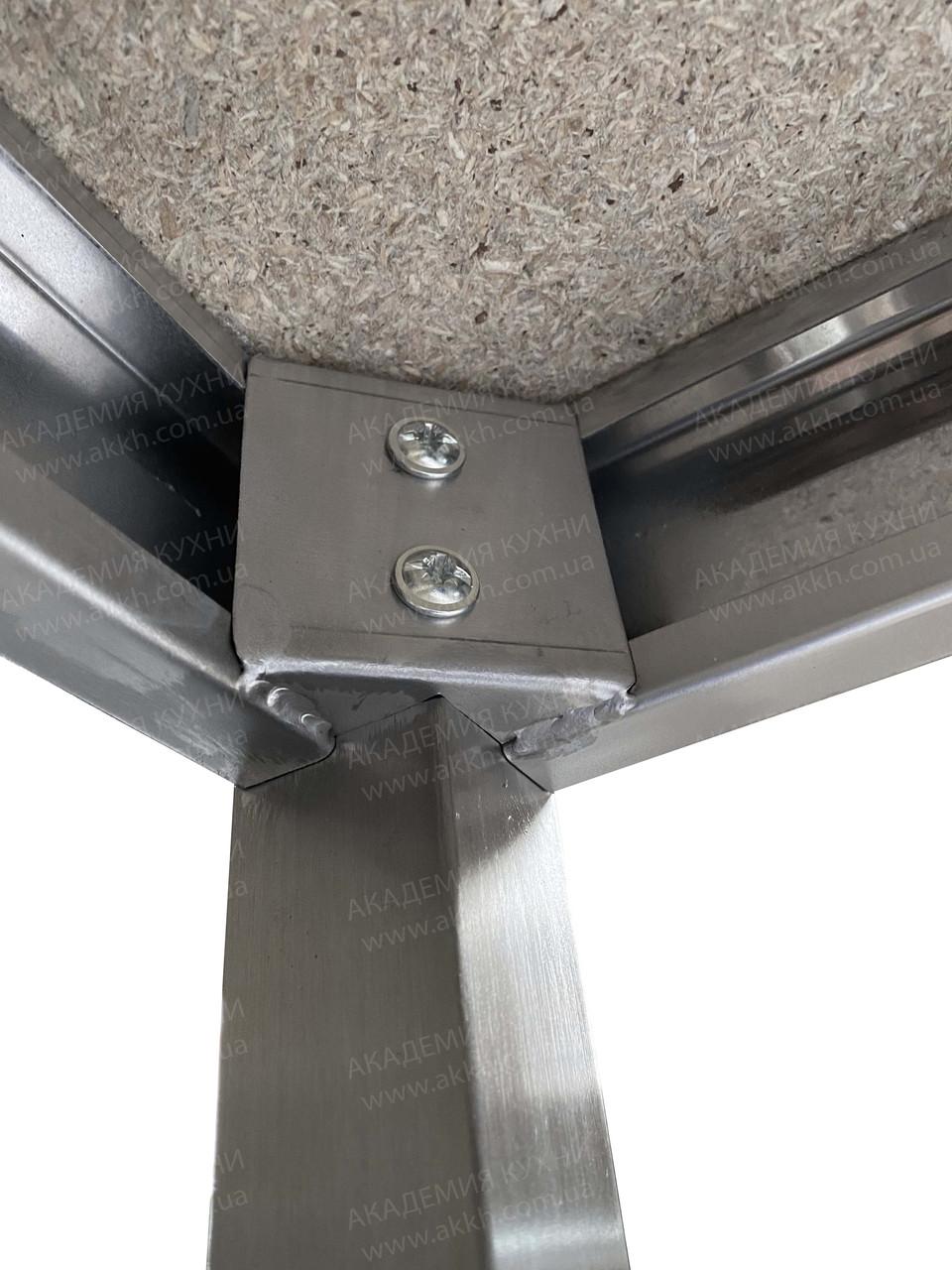 Стол разбор с нерж столеш AISI304 и полкой - фото 8