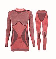 Комплект женского термобелья Haster Alpaca Wool XS Красный, фото 1